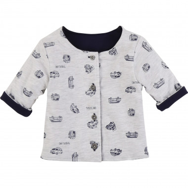 Reversible jersey cardigan TIMBERLAND for BOY