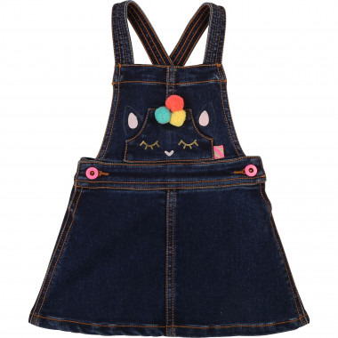 Dungaree dress with pompons BILLIEBLUSH for GIRL