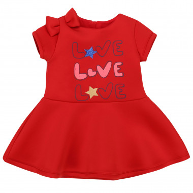 Flared dress with bow  for