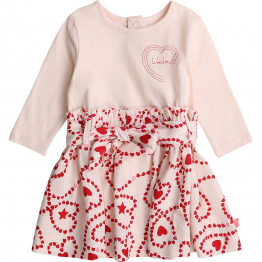 Dual-fabric patterned dress  for