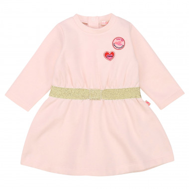 Fleece dress with patches  for