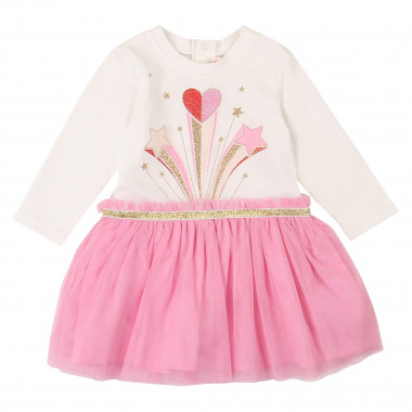 Dress with sparkly tulle skirt  for