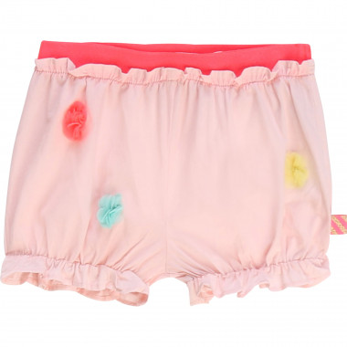 Cotton shorts with pompoms BILLIEBLUSH for GIRL