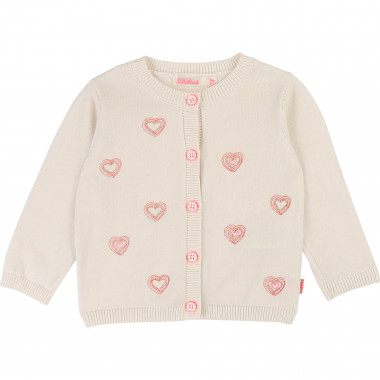 Heart-printed cotton cardigan BILLIEBLUSH for GIRL