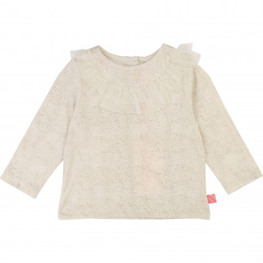 Sequin T-shirt with tulle BILLIEBLUSH for GIRL