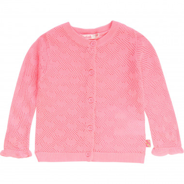 Openwork jacquard cardigan BILLIEBLUSH for GIRL