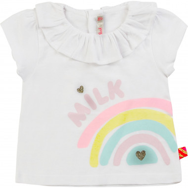 Cotton T-shirt with ruff BILLIEBLUSH for GIRL
