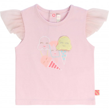Cotton T-shirt with tulle BILLIEBLUSH for GIRL
