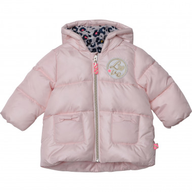 Hooded zip padded jacket BILLIEBLUSH for GIRL