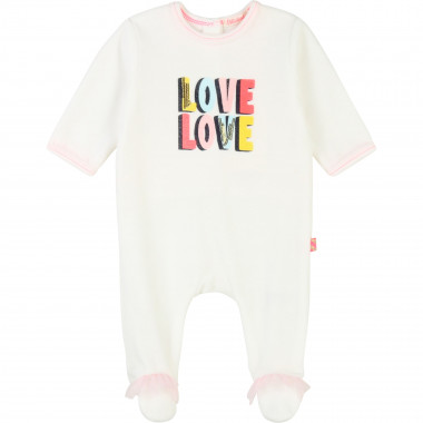 Velvet sleepsuit with frills BILLIEBLUSH for GIRL