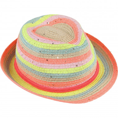Colourful straw hat BILLIEBLUSH for GIRL