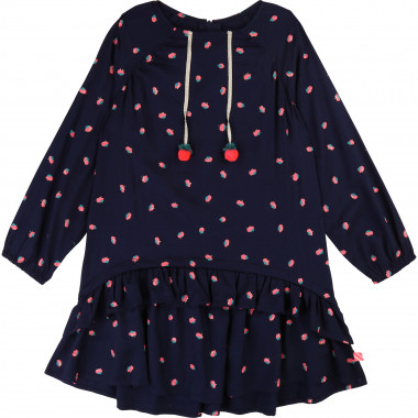 Printed dress with pompoms BILLIEBLUSH for GIRL