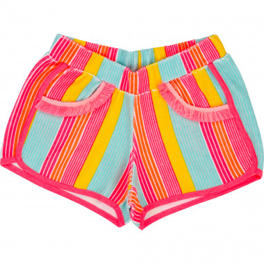 Striped terrycloth shorts BILLIEBLUSH for GIRL