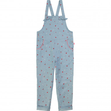 Dungarees in printed chambray BILLIEBLUSH for GIRL