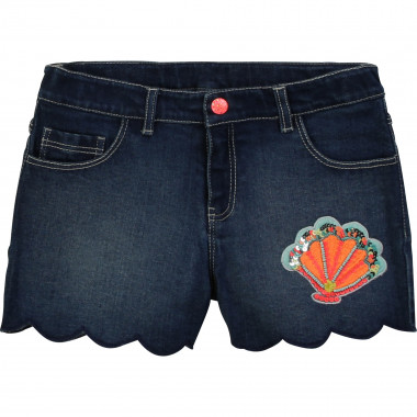 Denim scallop-leg shorts BILLIEBLUSH for GIRL