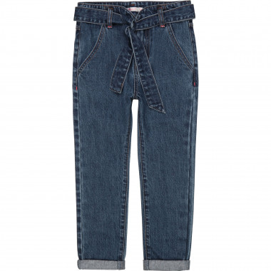 Belted jeans with pockets BILLIEBLUSH for GIRL