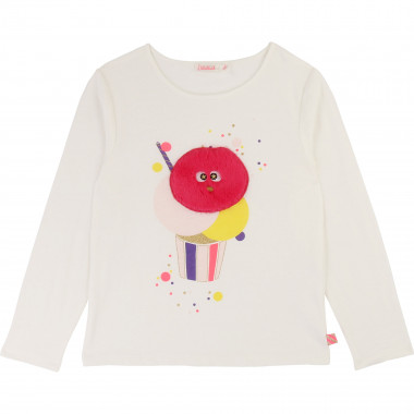 Patched cotton jersey t-shirt BILLIEBLUSH for GIRL