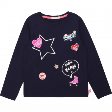 Long-sleeved printed top BILLIEBLUSH for GIRL
