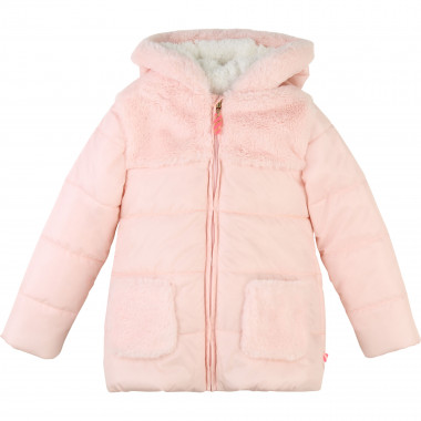 Hooded winter jacket with fur  for