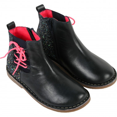 Leather boots with sequins  for