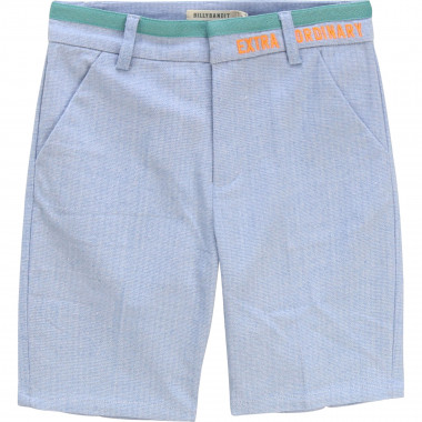 Cotton chevron Bermuda shorts BILLYBANDIT for BOY