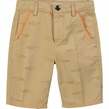 Printed cotton twill Bermudas BILLYBANDIT for BOY