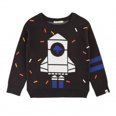 Novelty jacquard knit jumper BILLYBANDIT for BOY