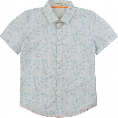 Printed poplin shirt BILLYBANDIT for BOY