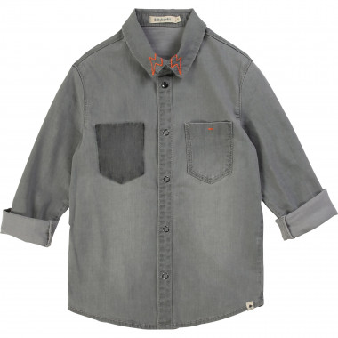 Denim shirt with embroidery BILLYBANDIT for BOY