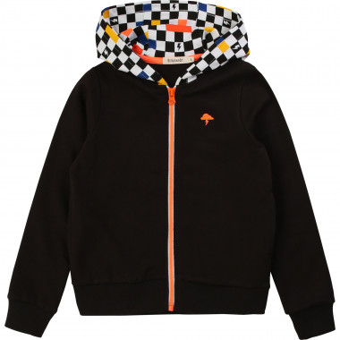 Printed hooded cardigan BILLYBANDIT for BOY