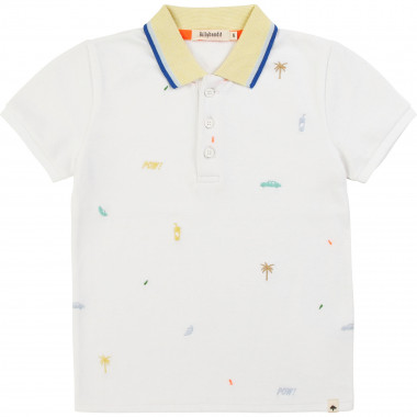 Embroidered cotton piqué polo BILLYBANDIT for BOY