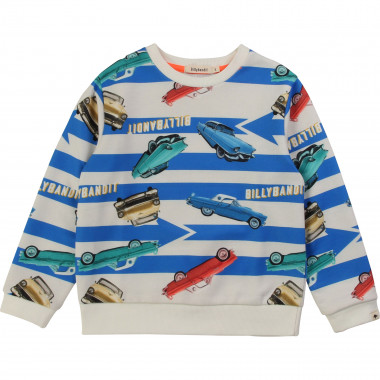 Printed fleece sweatshirt BILLYBANDIT for BOY