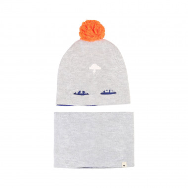 Reversible hat and snood BILLYBANDIT for BOY