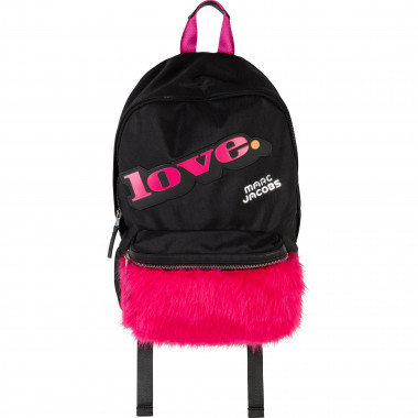 Nylon backpack with fur pocket LITTLE MARC JACOBS for GIRL
