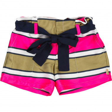 Striped shorts with belt LITTLE MARC JACOBS for GIRL