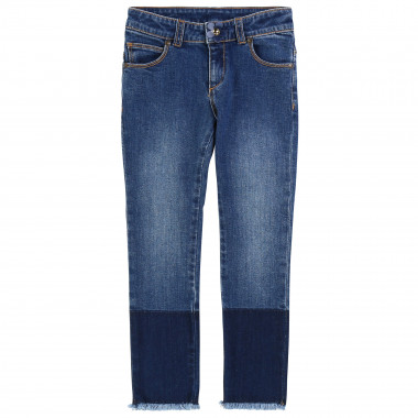 Slim-fit cotton denim trousers  for