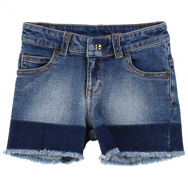 Denim shorts with contrasts LITTLE MARC JACOBS for GIRL