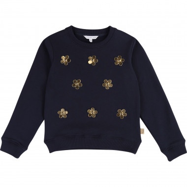 Sweatshirt with golden daisies LITTLE MARC JACOBS for GIRL