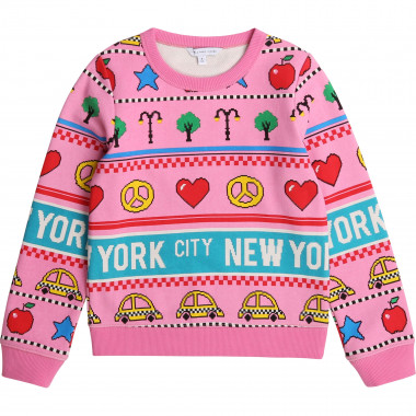 Fleece printed jumper THE MARC JACOBS for GIRL