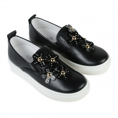 Daisy-studded leather loafers LITTLE MARC JACOBS for GIRL