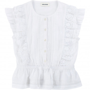 Cotton voile blouse ZADIG & VOLTAIRE for GIRL