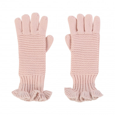 Lurex and tricot gloves CARREMENT BEAU for GIRL