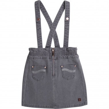 Denim dress with braces CARREMENT BEAU for GIRL