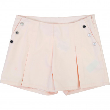 Satin shorts with box pleats CARREMENT BEAU for GIRL
