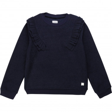 Frilled terrycloth sweatshirt CARREMENT BEAU for GIRL