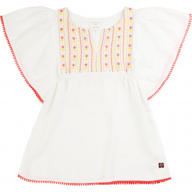 Tunic with neckline embroidery CARREMENT BEAU for GIRL