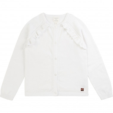 Frilled tricot cardigan CARREMENT BEAU for GIRL