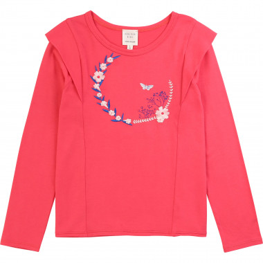 Printed embroidered T-shirt CARREMENT BEAU for GIRL