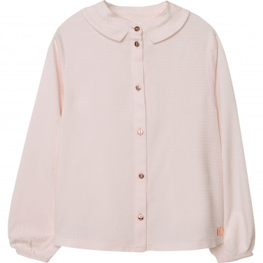 Relaxed blouse with novelty collar CARREMENT BEAU for GIRL
