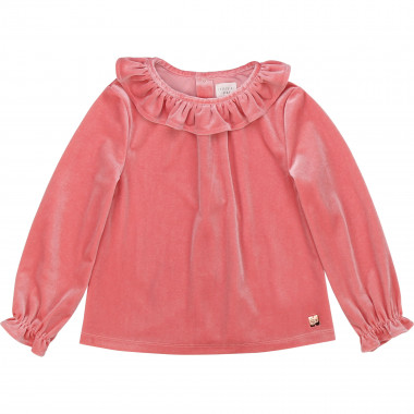 Frilly velour blouse CARREMENT BEAU for GIRL